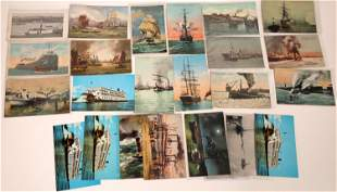 Tugboat, Riverboat and Sailing Ship Postcard Collection