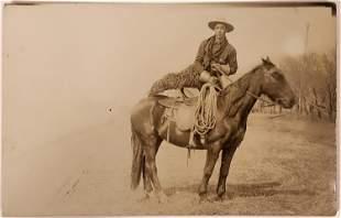 Military Man w/ Woolies Real Photo Postcard [135760]