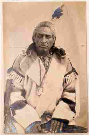 Native American with Private Issue Washington Peace