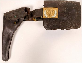 George Armstrong Custer Civil War Holster and Dispatch