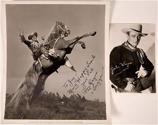 Roy Rodgers Autographed Photograph Plus John Wayne RPC