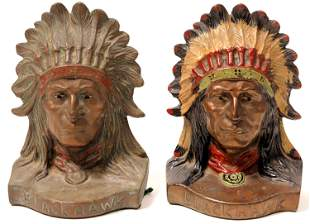 Bookends - Blackhawk Indian Chief [135179]