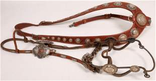 Sterling Silver Concho Bridle and Head Stall [136727]