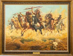 """""""Sitting Bull's Charge"""" by William Douglas Rosa"""