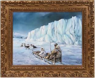 Eskimos on Sleds by Marie Clair [136953]
