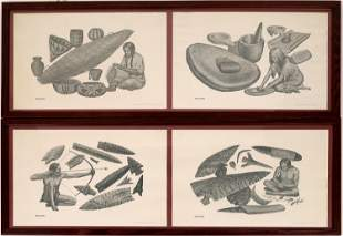 Indian & Early Man Artifacts Prints by William A.