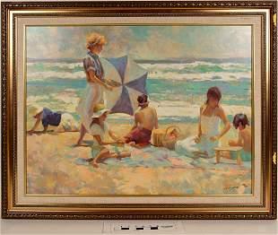 Beach Scene Pastel GiclÈe, Numbered [124990]