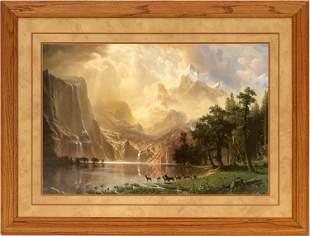 Between the Sierra Nevada Mountains--Bierstadt