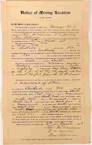 Cochise County Mining Deed Lode Claim [137349]