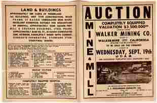 Auction Sale Notices for Mining Equipment & Buildings