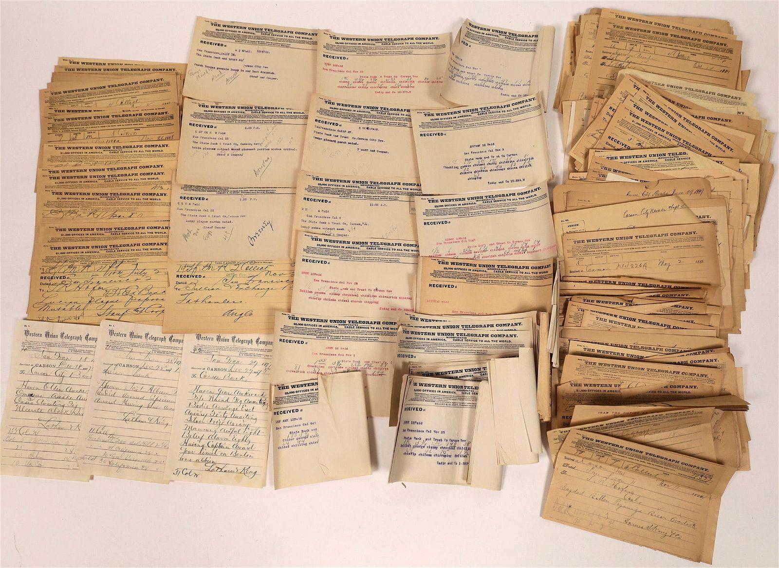 Western Mining Telegram Archive c1875-1905 [135032]