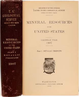U.S.G.S. Mineral Resources of the U.S., Part 1 Metallic