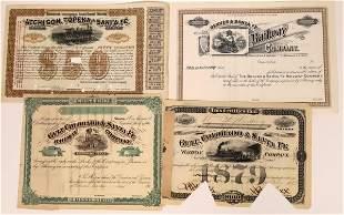 Four Colorado Railroad Stock Certificates [137030]