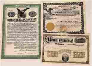 Tramway Company Stock Certificates (3) [137033]