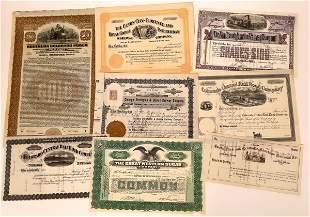 Colorado Railroad Stock & Bond Certificates (7)