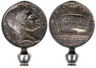 Napoleon Roi d'Italia Coin made into a Rotary Phone
