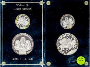 Apollo XIII Lunar Mission Silver Medals [137717]