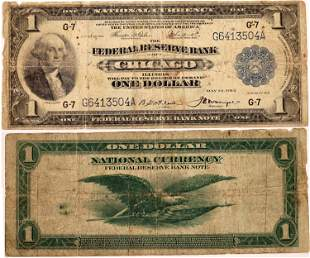 Federal Reserve One Dollar Note Chicago series 1918