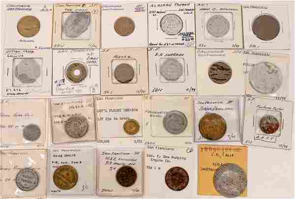 San Francisco Tokens with Eye Appeal [136639]