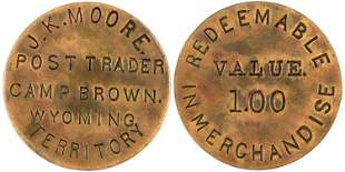 "Camp Brown, Incuse ""Value $1.00"" Post Trader Token"