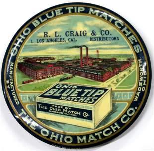 Ohio Match Company Advertising Mirror [135927]