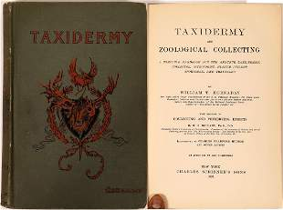 Early Taxidermy Book by Hornaday [135974]