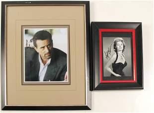 Robert De Niro and Sophia Loren Framed and Autographed