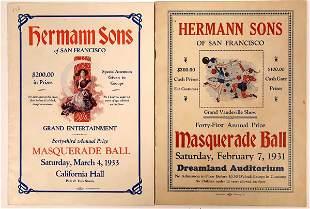 Hermann Sons of San Francisco Masquerade Ball Programs