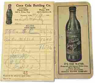 Soft Drink Ad & Receipt [135912]