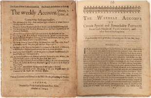 """""""The Weekly Account"""" 1641 Pamphlet [132587]"""