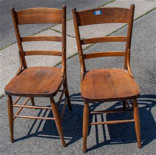 Antique Wooden Chairs (5) [138782]