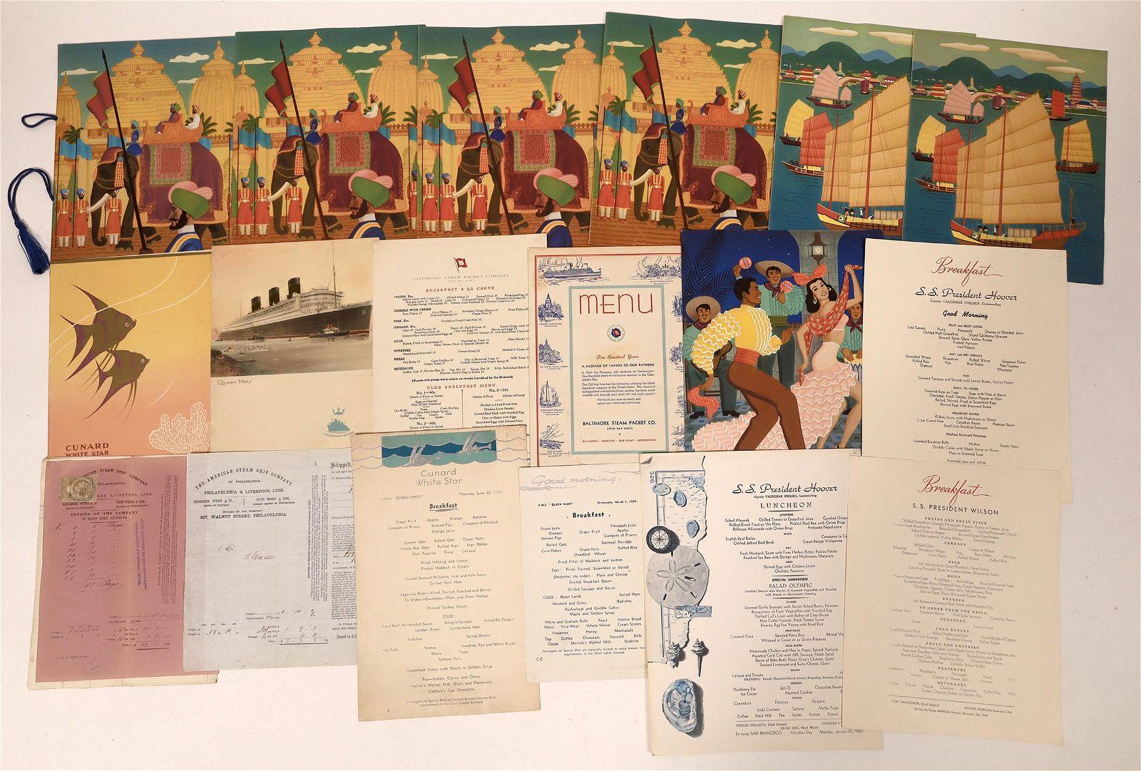 U.S. Cruise Ship Menu Collection [135666]