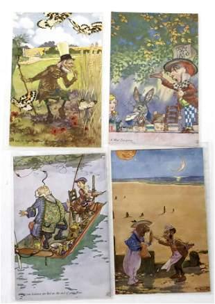 Alice In Wonderland Postcard Group (4 cards) [138113]