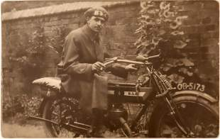 BSA Motorcycle Real Photo Postcards [133663]