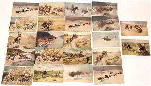 Cowboy Themed Postcards (23) [136523]