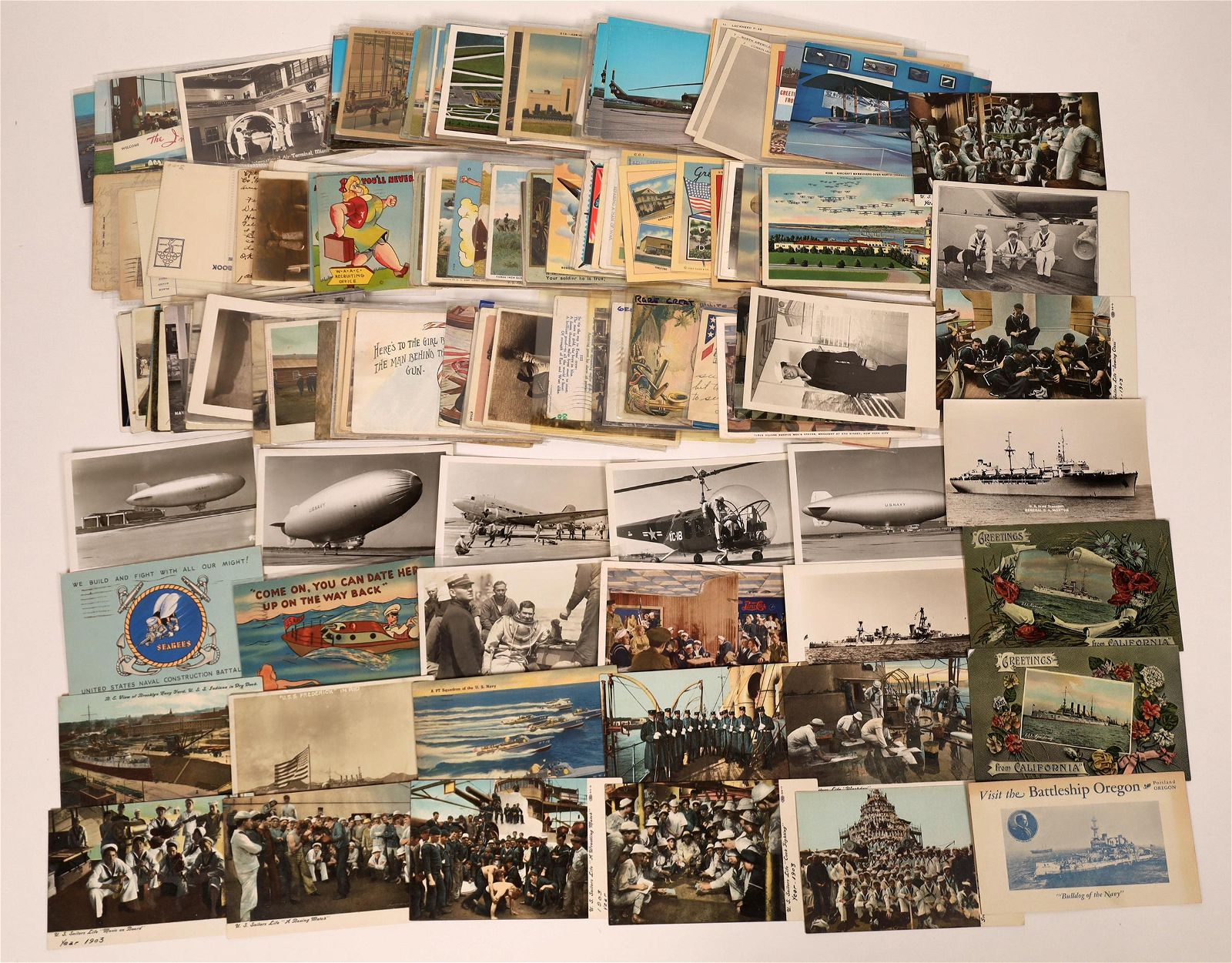U. S. Military Postcard Group (Over 200 cards)