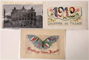 Three Rare and Interesting French Postcards [135211]