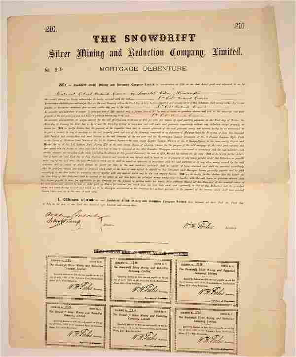 The Snowdrift Silver Mining and Reduction Co. Mortage
