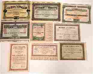 African Mining Stock Certificates Financed by the