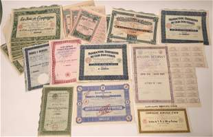 Dealer Lot of French Stock and Bond Certificates