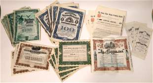 Mexican Companies Stock Certificates [132666]