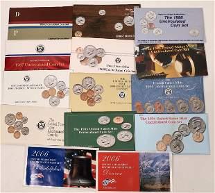 US Mint Set Group, D & P, 1984-85, 1987-95, 1998, 2006