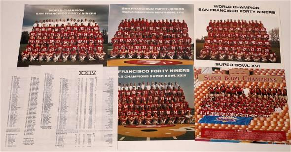 San Francisco 49ers Super Bowl Team Photographs