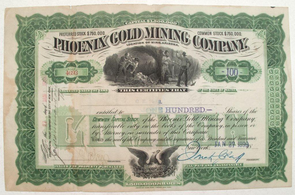 Phoenix Gold Mining Company stock
