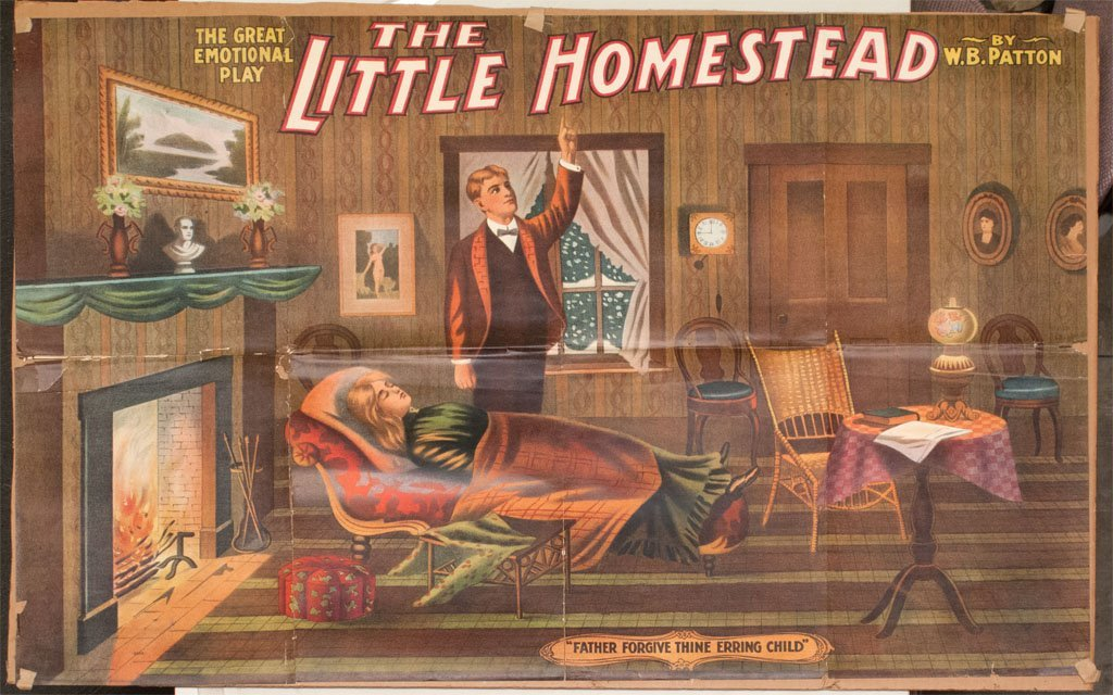 """Large broadside for play """"The Little Homestead"""""""