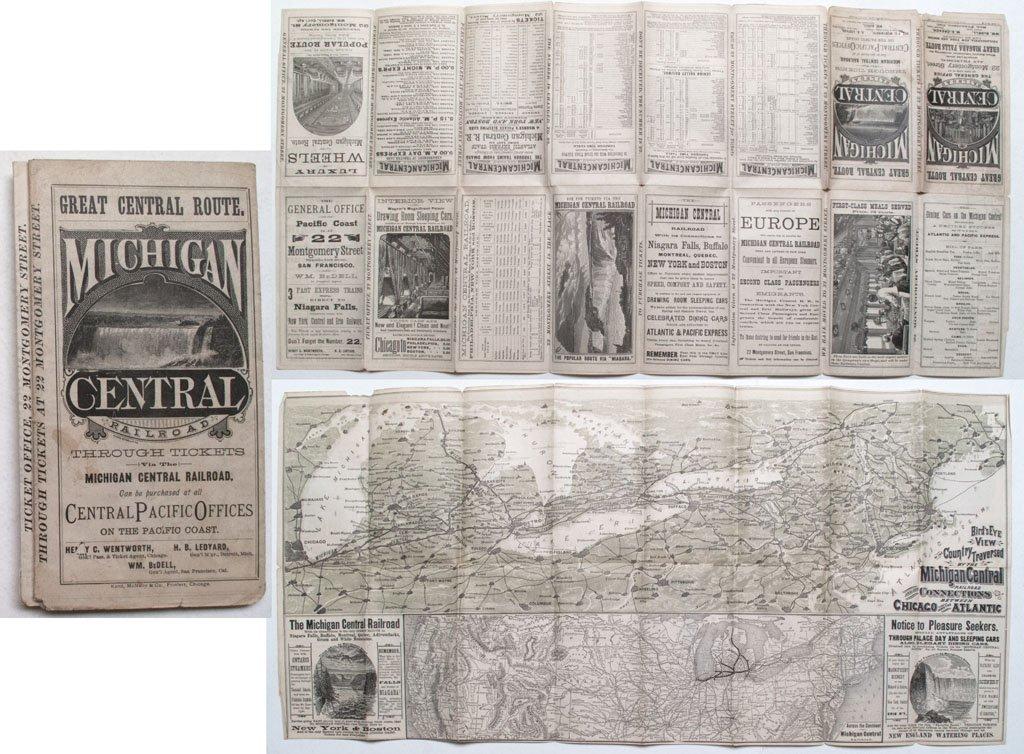 Central Pacific - Michigan Central Railroad time table