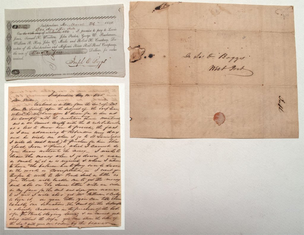 Gold Rush era Promissory note for the Independence and