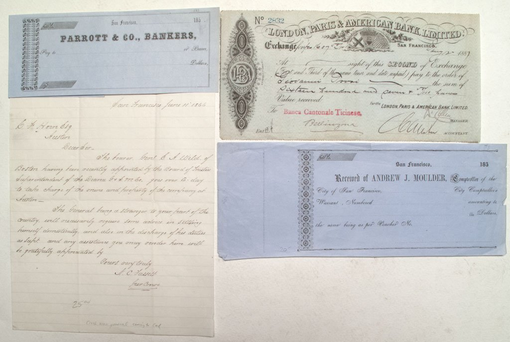 Letter and other rare documents