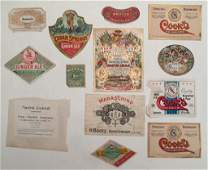 Wines Liquors and Ginger Ale label collection