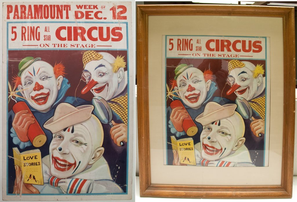 Five Ring All Star Circus advertisement